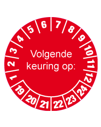 Keuringssticker KS-001