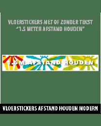 Corona vloerstickers modern