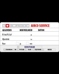 Onderhoudssticker airco service