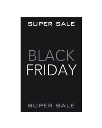 Black Friday Super sale poster BF-009