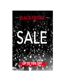 Black Friday sale poster BF-015