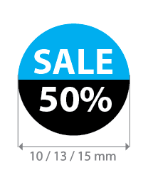 Brilsticker sale percentage rond BR-0001