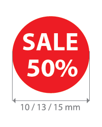 Brilsticker sale percentage rond BR-0003