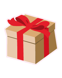 Etalage cadeausticker