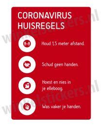 Corona huisregels stickers