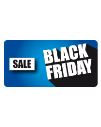 Etalagesticker Black Friday sale