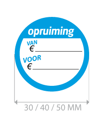 productstickers opruiming ETI-001
