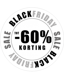 Black Friday etalage sticker
