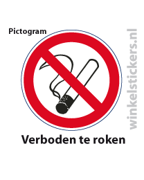 Pictogram 5 stuks 'roken' PICTO-002