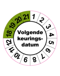 Keuringssticker KS-004