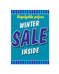 Poster sale winter blauw STA-105
