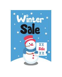 Poster winter sale PO-022