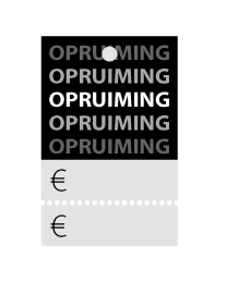 Prijskaartjes opruiming zwart met scheurrand PR-0002