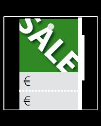 Prijskaartjes Sale groen met scheurrand PR-0001