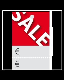 Prijskaartjes Sale rood met scheurrand PR-0001