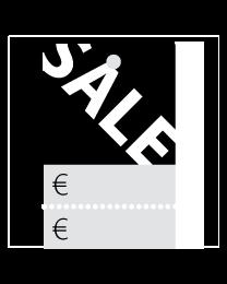 Prijskaartjes Sale zwart met scheurrand PR-0001