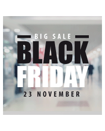 Raamsticker black friday BF-032