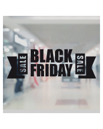 Raamsticker black friday BF-031