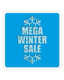 Etalagesticker winter sale