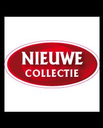 Etalage nieuwe collectie sticker ovaal