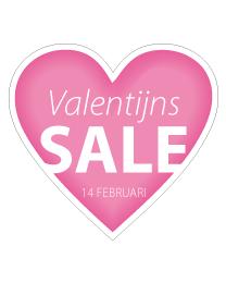 Etalage valentijns salesticker