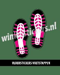 schoenstickers vloersticker zwart paars
