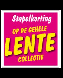 Etalagesticker stapelkorting lente roze STA-57