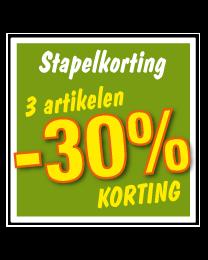 Etalagesticker stapelkorting lente groen 3 artikel STA-74