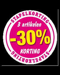 Etalagesticker stapelkorting lente roze 3 artikel STA-48
