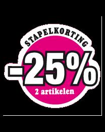 Etalagesticker stapelkorting lente roze 2 artikel STA-51