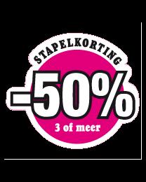 Etalagesticker stapelkorting lente roze 3 artikel STA-52