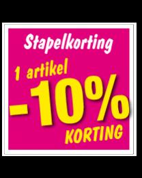 Etalagesticker stapelkorting lente roze 1 artikel STA-53
