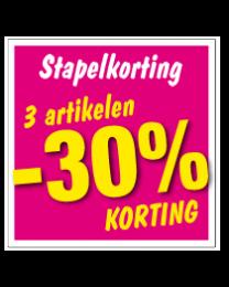 Etalagesticker stapelkorting lente roze 3 artikel STA-55