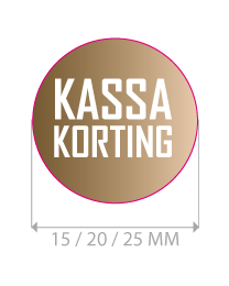 productstickers kassa korting rond STV-015
