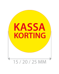 productstickers kassa korting rond STV-016
