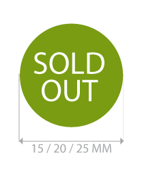 productstickers sold out rond STV-019