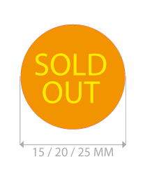productstickers sold out rond STV-018