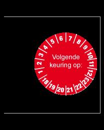 Keuringsstickers op rol SR-039