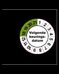 Keuringsstickers op rol SR-042