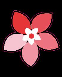 Etalage bloemsticker