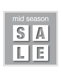 Etalagesticker mid-season sale