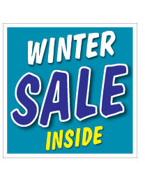 Etalagesticker sale winter blauw 1 artikel STA-116