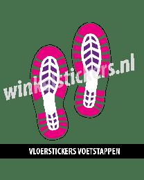 schoenstickers vloersticker roze paars