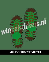 schoenstickers vloersticker bruin groen