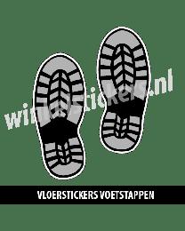 schoenstickers vloersticker zwart grijs