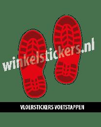 schoenstickers vloersticker rood donkerrood