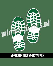 schoenstickers vloersticker groen