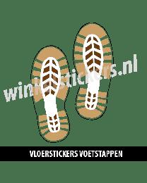 schoenstickers vloersticker bruin