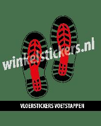 schoenstickers vloersticker rood zwart
