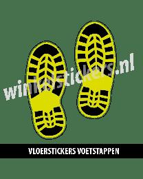 schoenstickers vloersticker geel zwart